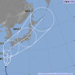 今年最強の台風19号が3連休空けに本州上陸し日本縦断見込み