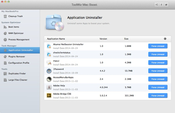 Toolwiz mac boost 4