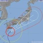 台風18号がスピードアップし月曜朝の首都圏を直撃