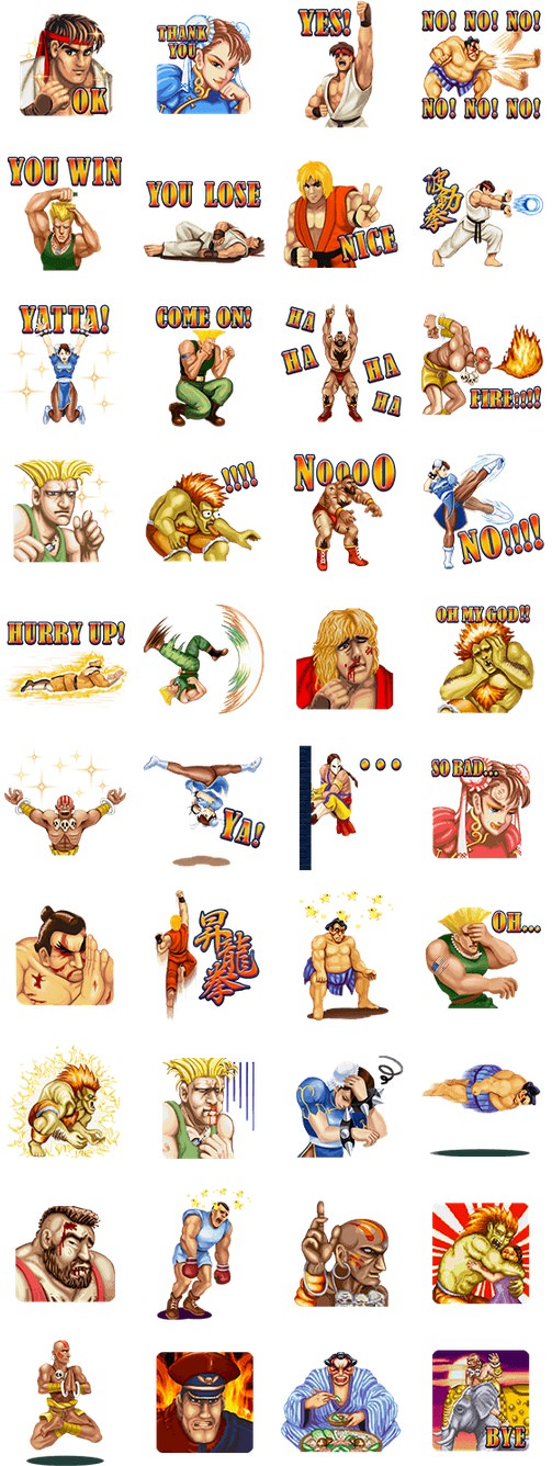 Line stamp streetfighter2 1