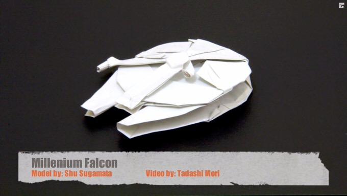Youtube millennium falcon origami
