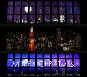 東京タワーでプロジェクションマッピング!夜景とコラボしてIngressみたい!