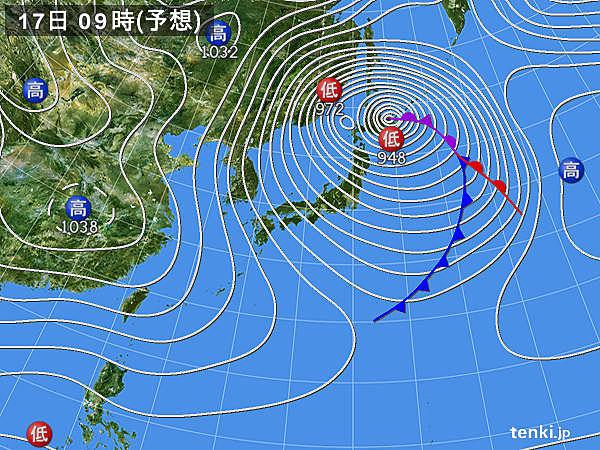 16日は台風並みの爆弾低気圧!関東でも雪の可能性
