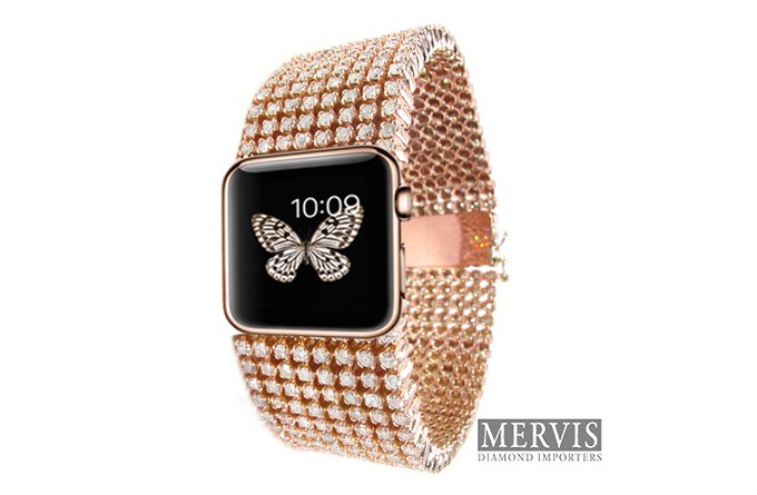 ダイヤモンドが合計15カラット!究極のApple Watchの予約が開始