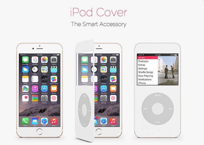カワイイ!iPhoneをiPod Classicのように使えるカバーのコンセプトデザイン