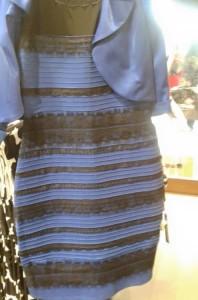 ドレスは「白と金」か「青と黒」?原因は色の恒常性による錯視