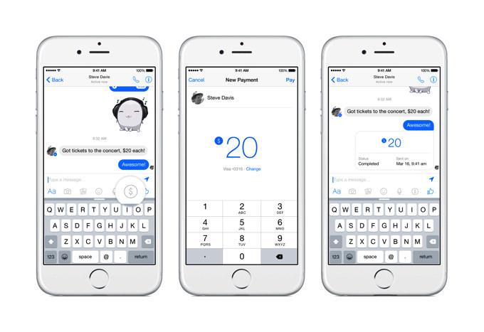Facebook、メッセンジャーで友達同士の送金機能を提供開始