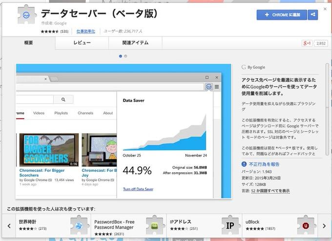 Chrome extention datasaver