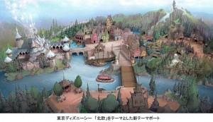 東京ディズニーシーに「アナ雪」の世界をテーマにした新テーマポート決定