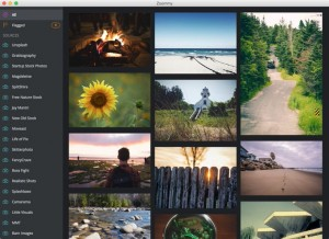 商用フリーの写真素材を配布する19サイトの写真素材を管理できるMacアプリ「ZOOMY」