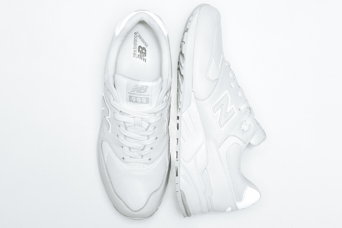 New balance all white 1
