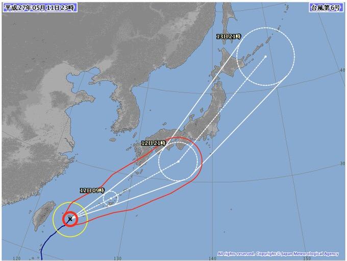 台風6号、関東は12日夜〜13日朝にかけて通勤通学に影響