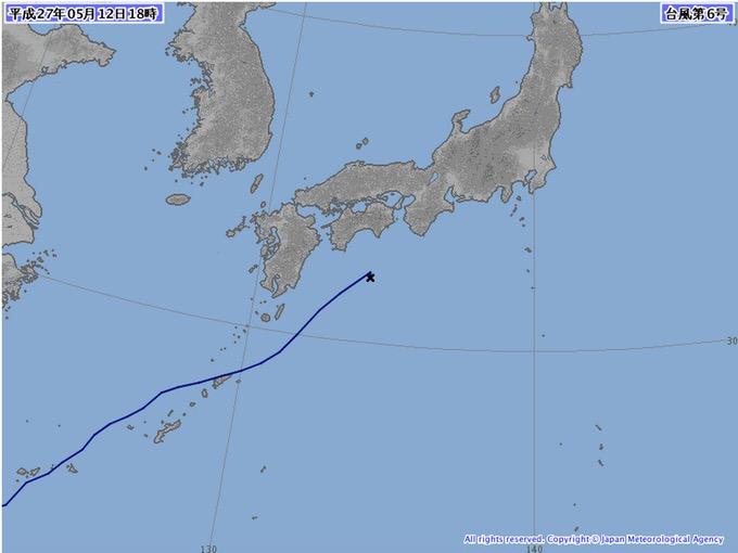 台風6号消滅するも台風並みの勢力で関東へ!13日の東京は30度の真夏日に!