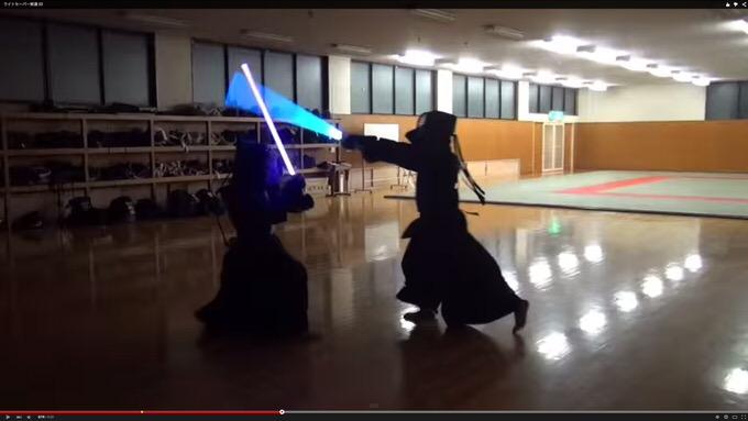 かっけぇ!スターウォーズのライトセーバーで剣道をしてみた動画が話題