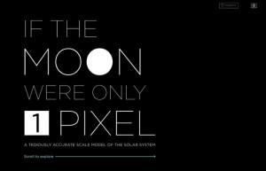 宇宙は広大だ!もし月が1ピクセルだった時の太陽系を忠実に再現したウェブサイト