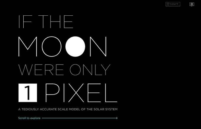 If the moon were only 1 pixel 1