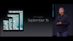 「iOS 9」は9月16日よりダウンロード開始と発表!