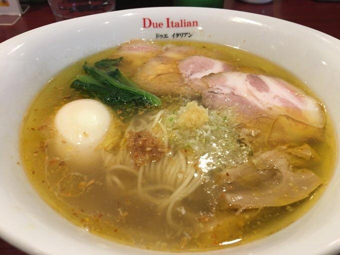 【市ヶ谷】ミシュラン掲載の「黄金の塩らぁ麺 ドゥエ イタリアン」が絶品だった