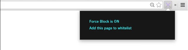 Chrome extension force block 2