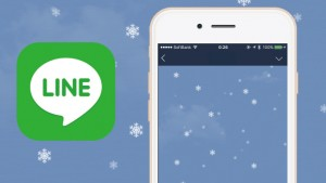 LINEのトーク画面に雪が降ってる!今年はiPhone、Android、PC全てに対応