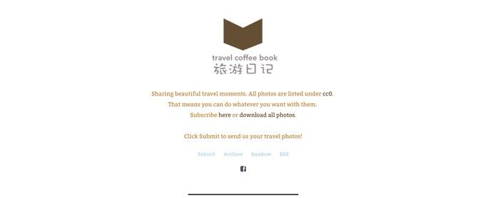 Travel coffee book