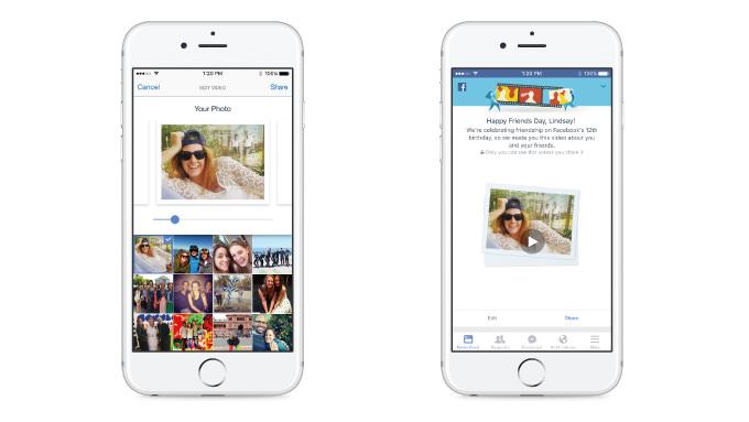 Facebookが友だちとの思い出を振り返るショートムービー作成機能を公開