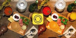 真上撮りも簡単!LINE 食べ物の撮影に特化したカメラアプリ「Foodie」を公開