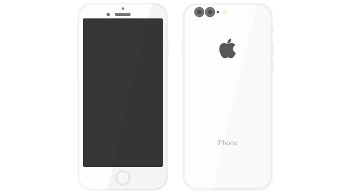 現時点での情報から「iPhone 7」のデザインを予想した画像