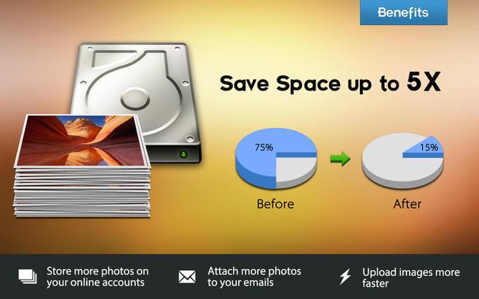 「JPEGmini」より画像圧縮(軽量化)してくれる「IMAGEmini」が95%オフのセール中!