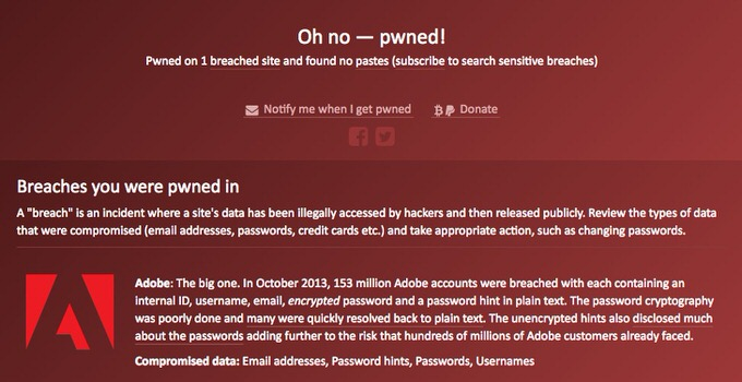 Website have i been pwned 4