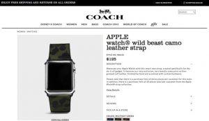 COACH、Apple Watchのバンドを発売開始!価格は125ドル〜