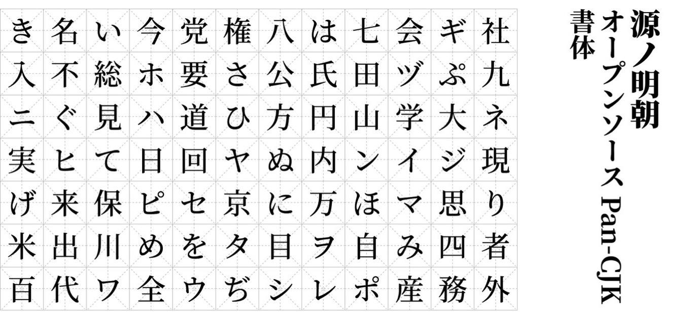 Adobe & Google、フォント「源ノ明朝」「Noto Serif CJK」を無償公開
