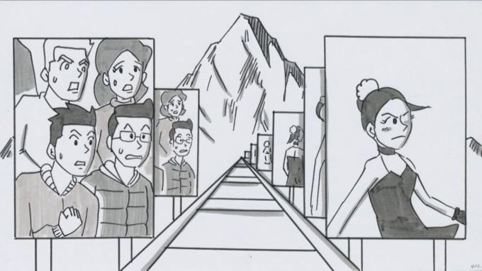 鉄拳、浅田真央がモデルのパラパラ漫画「SLIDE」を公開 「あの作品は未完成」と続編の構想も