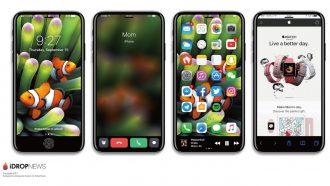 実現に期待!iPhone 8の「ファンクションエリア」を実現したイメージ画像