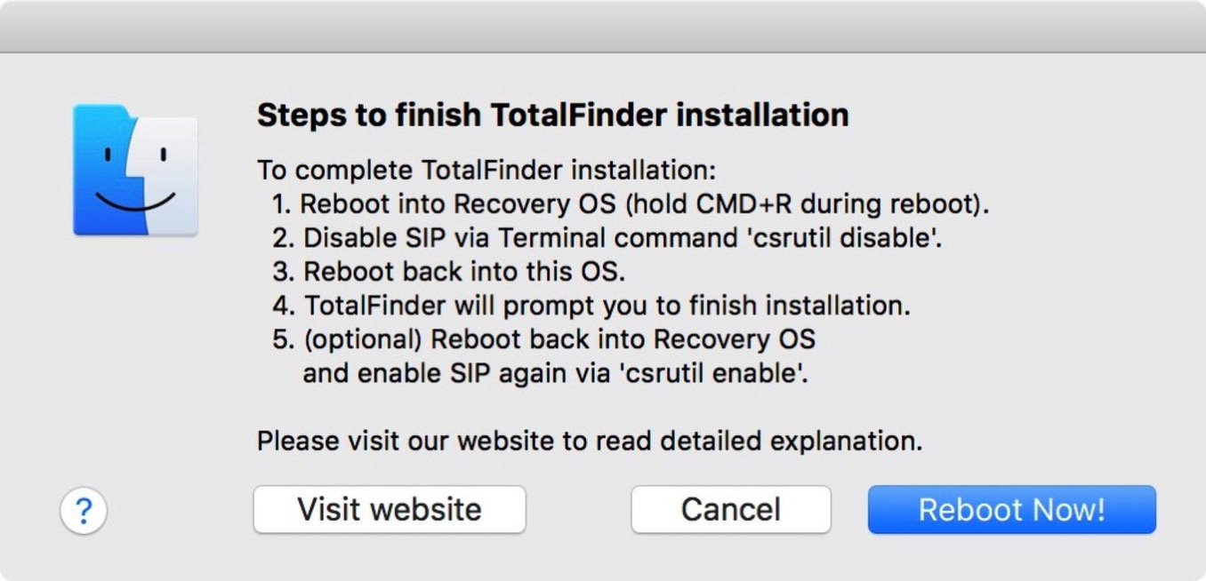 Mac app total finder sip 4