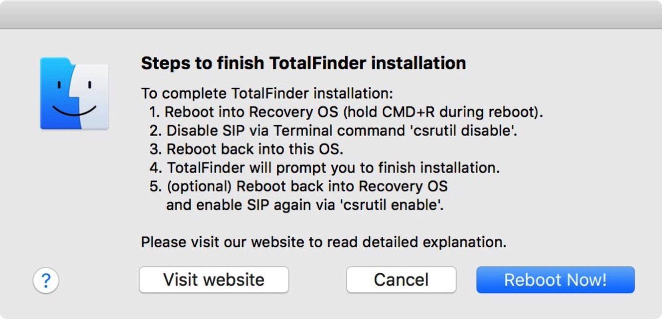 Mac app total finder sip 4