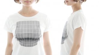 天才か!着ると「巨乳」に見える妄想マッピングTシャツが誕生