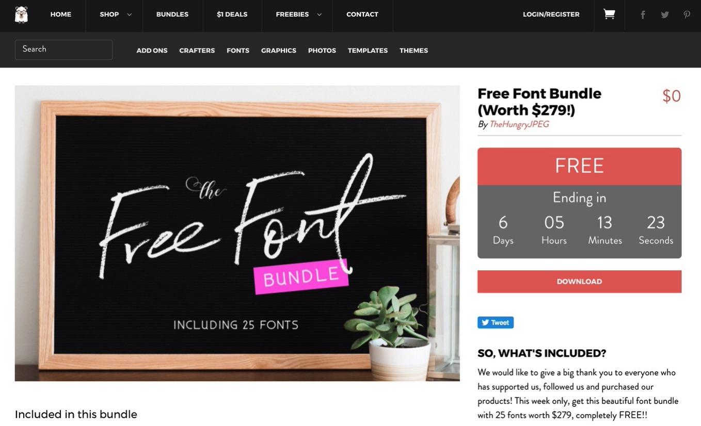Free font budle the hungrry jpeg 3