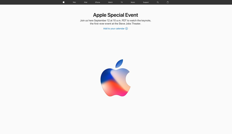 Apple、「iPhone 8」を9月12日に発表へ スペシャルイベント開催を正式発表