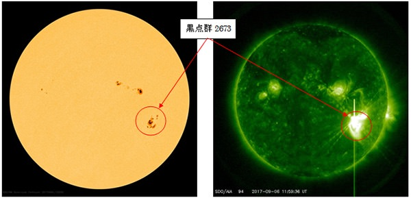 通常の1000倍以上の太陽フレアを観測、8日以降にGPSなどに誤差増大の恐れ