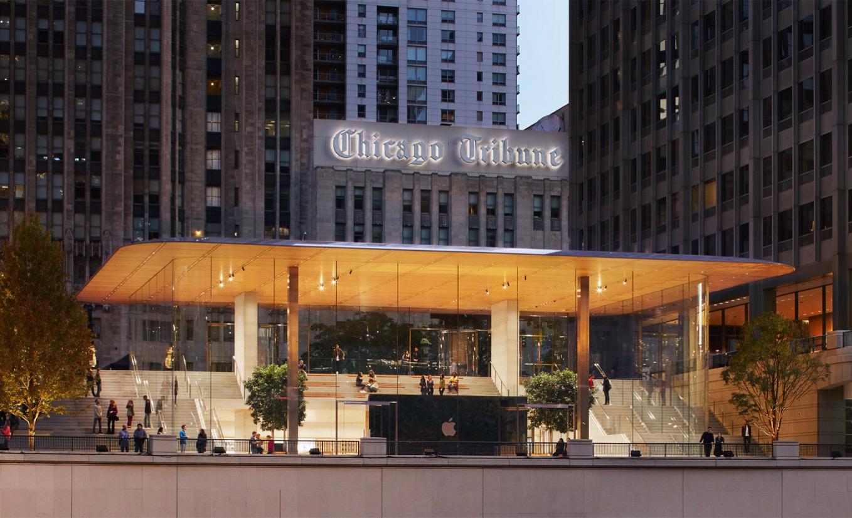 屋根がMacBookになっているApple Storeがついにオープン