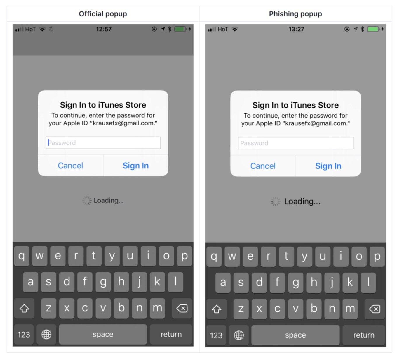 iPhoneに「偽のログイン」を出すフィッシング詐欺、詐欺を見破る方法も
