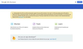 Google、短縮URLサービス「Google URL Shortener」を終了へ