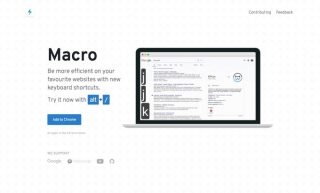 Webサービスのショートカットを一覧表示できるChrome拡張機能「Macro」