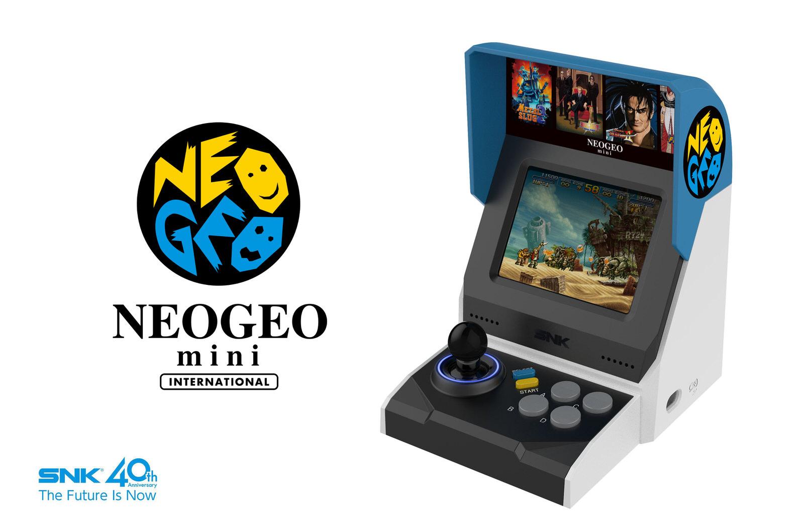 「NEOGEO mini」を正式発表、名作・傑作タイトルを40作内蔵 3.5インチディスプレイも搭載