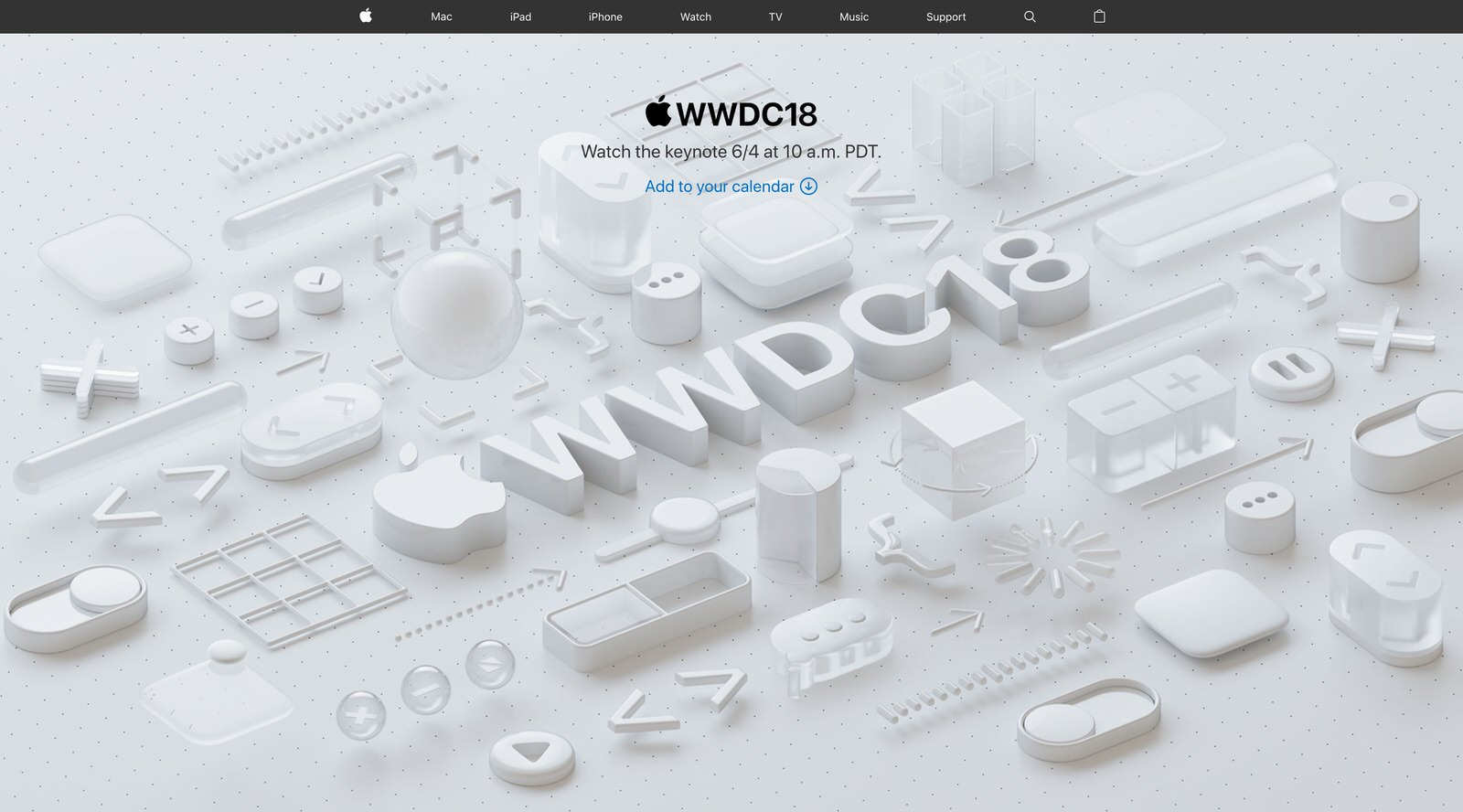 Apple、「WWDC2018」基調講演を6月5日午前2時よりライブ放送