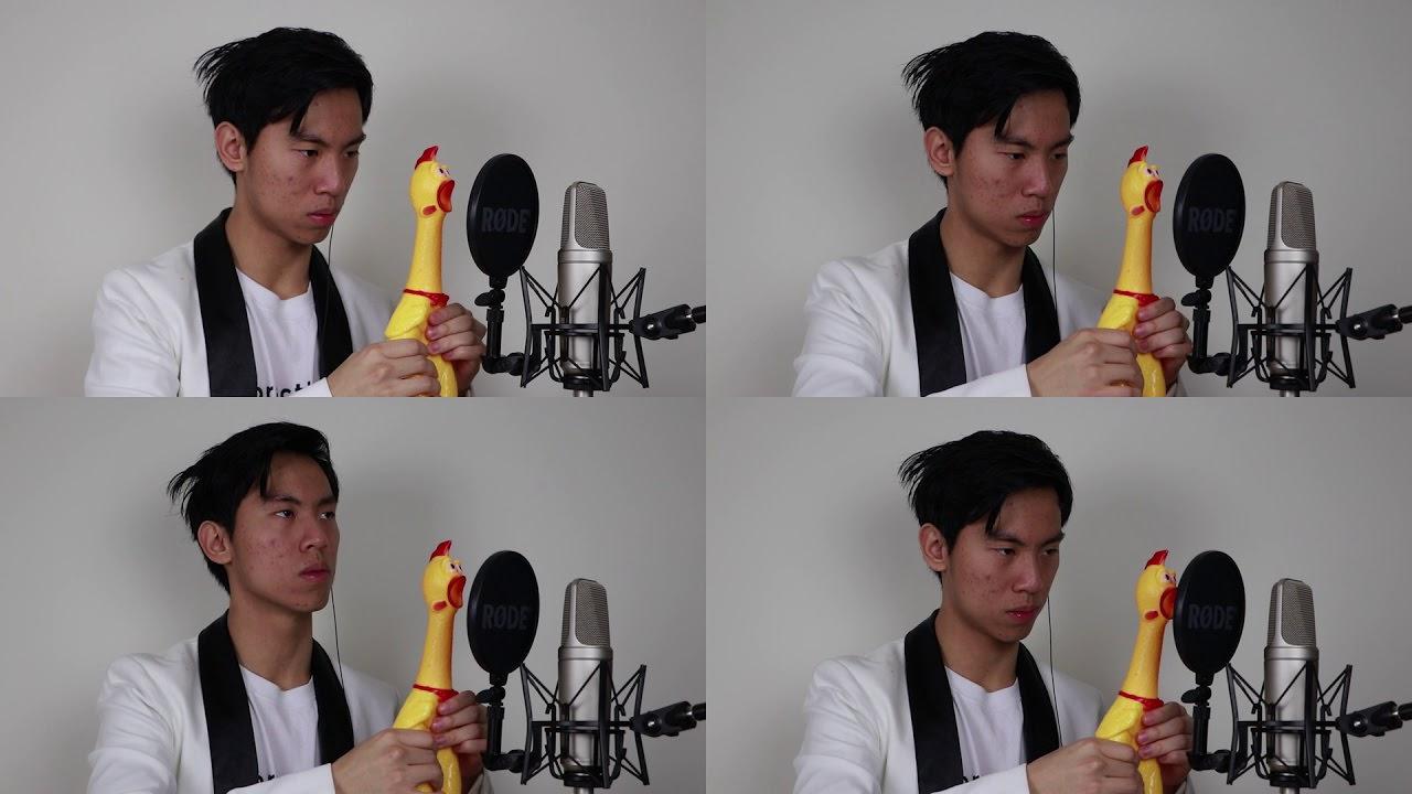 叫ぶチキンのおもちゃで「カノン」を演奏した動画が世界中から絶賛