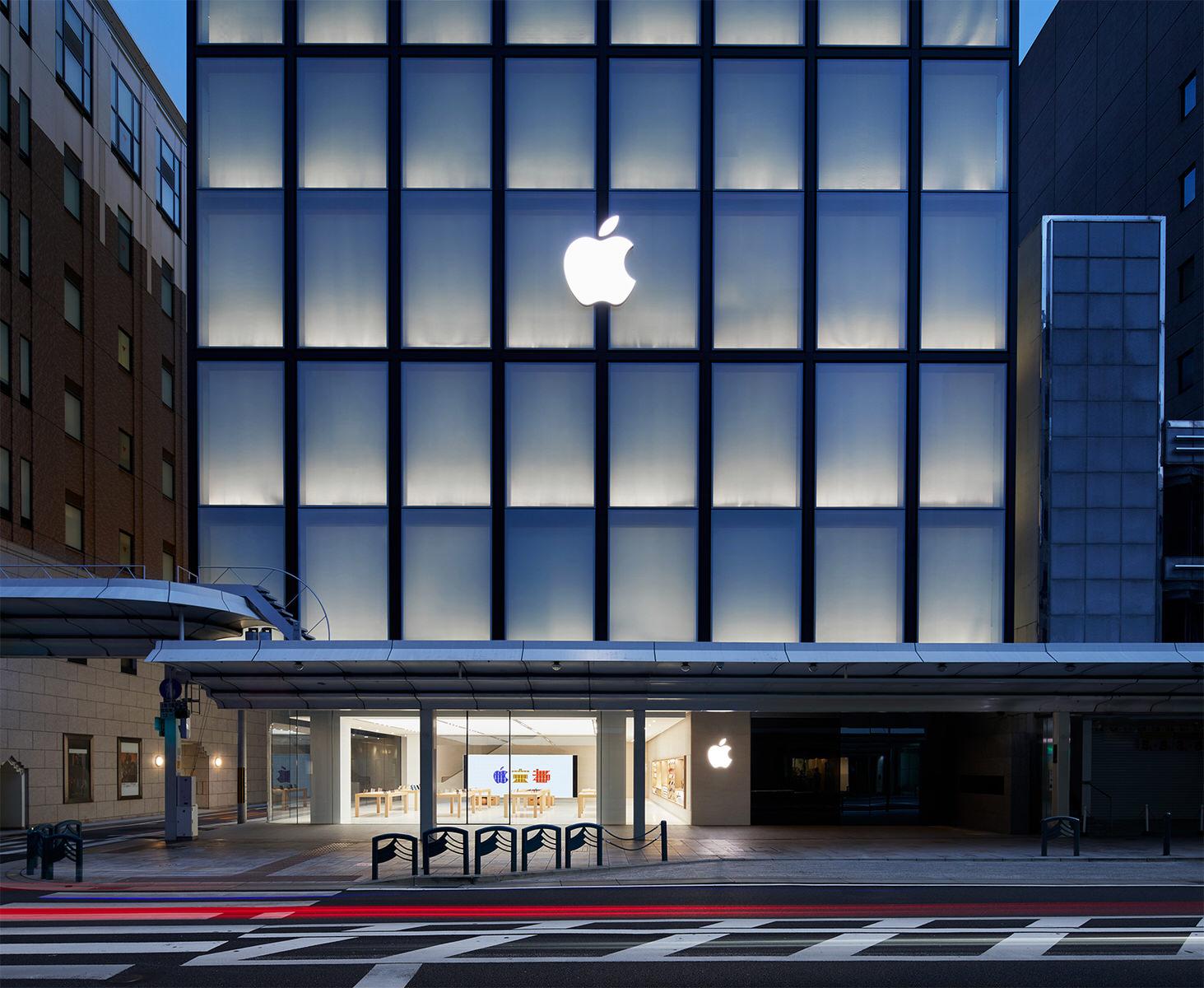 Apple、台風21号の影響で「Apple 京都」「Apple 心斎橋」を臨時休業
