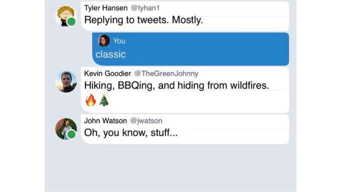 Twitter、「オンライン中」を表示する機能と「新しい会話表示形式」を実装か
