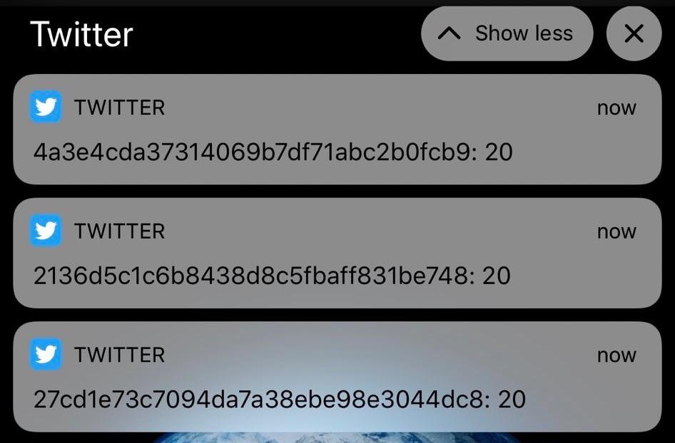 Twitterで「謎の通知」が大量発生、サマーウォーズを連想するユーザーも ※現在は修正済